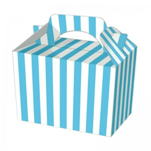 Blue Candy Stripe Party Meal Boxes