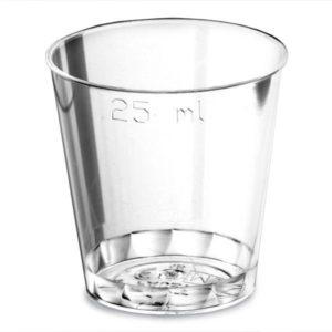 25ml To Brim Plastic Shot Glasses