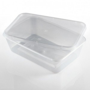 650ml Plastic Microwaveable Containers
