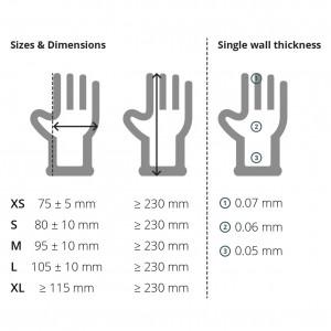 Clear vinyl gloves