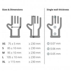 Small Blue Vinyl Gloves