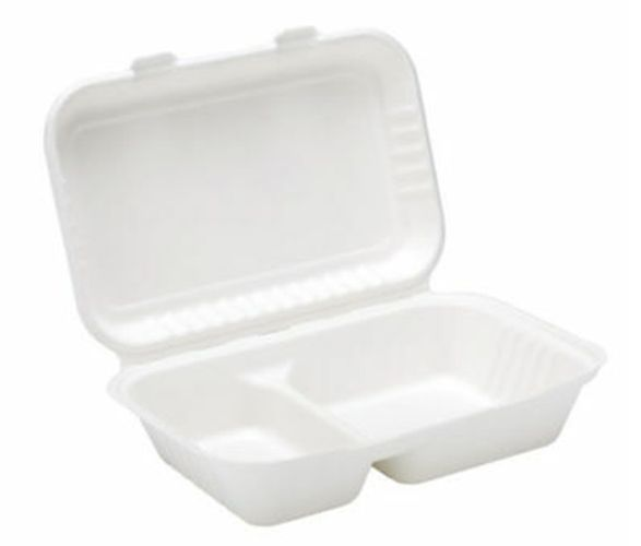 Bagasse 2 Compartment Takeaway Box