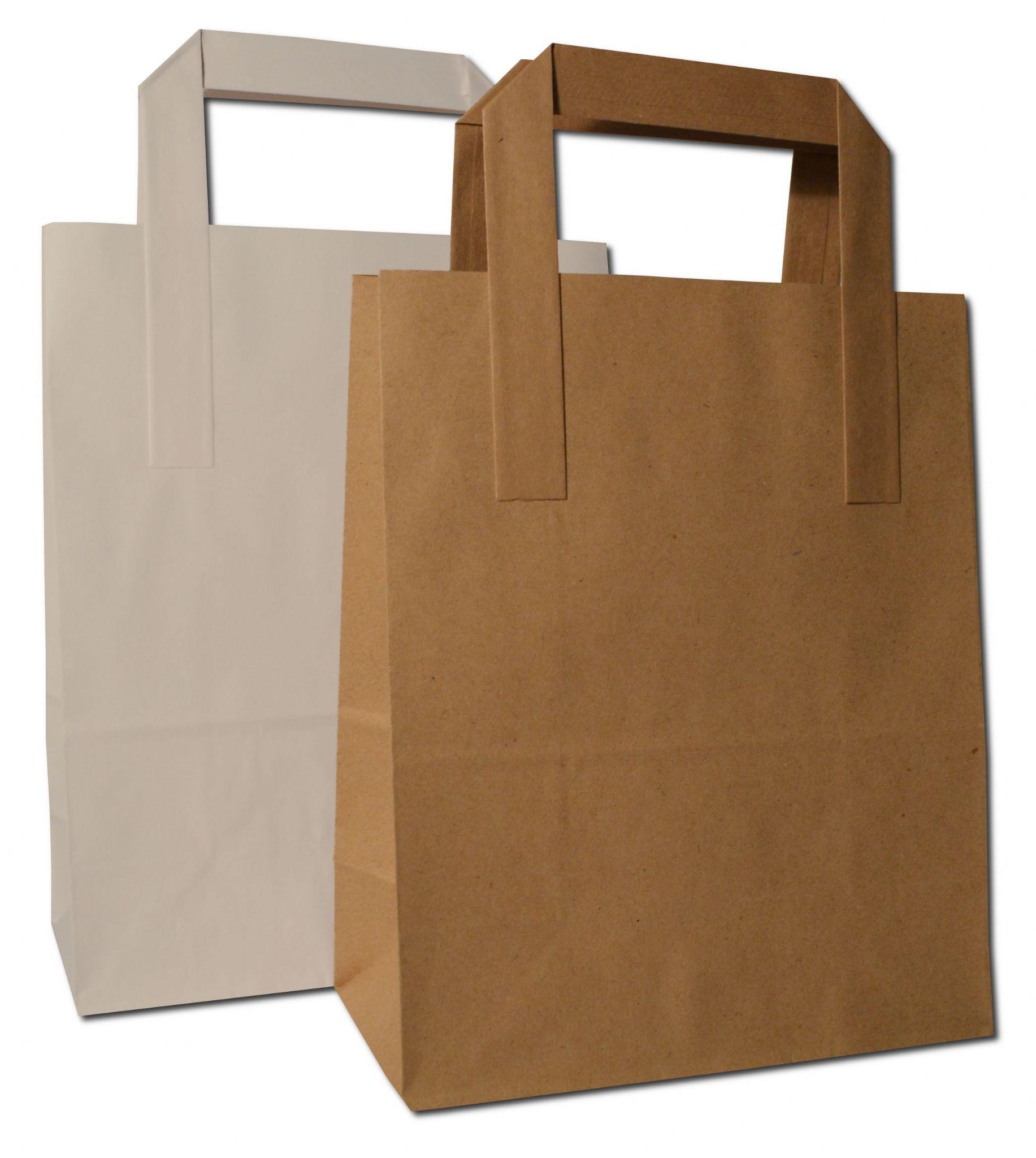 Flat Handled Takeaway Bags / SOS Bags