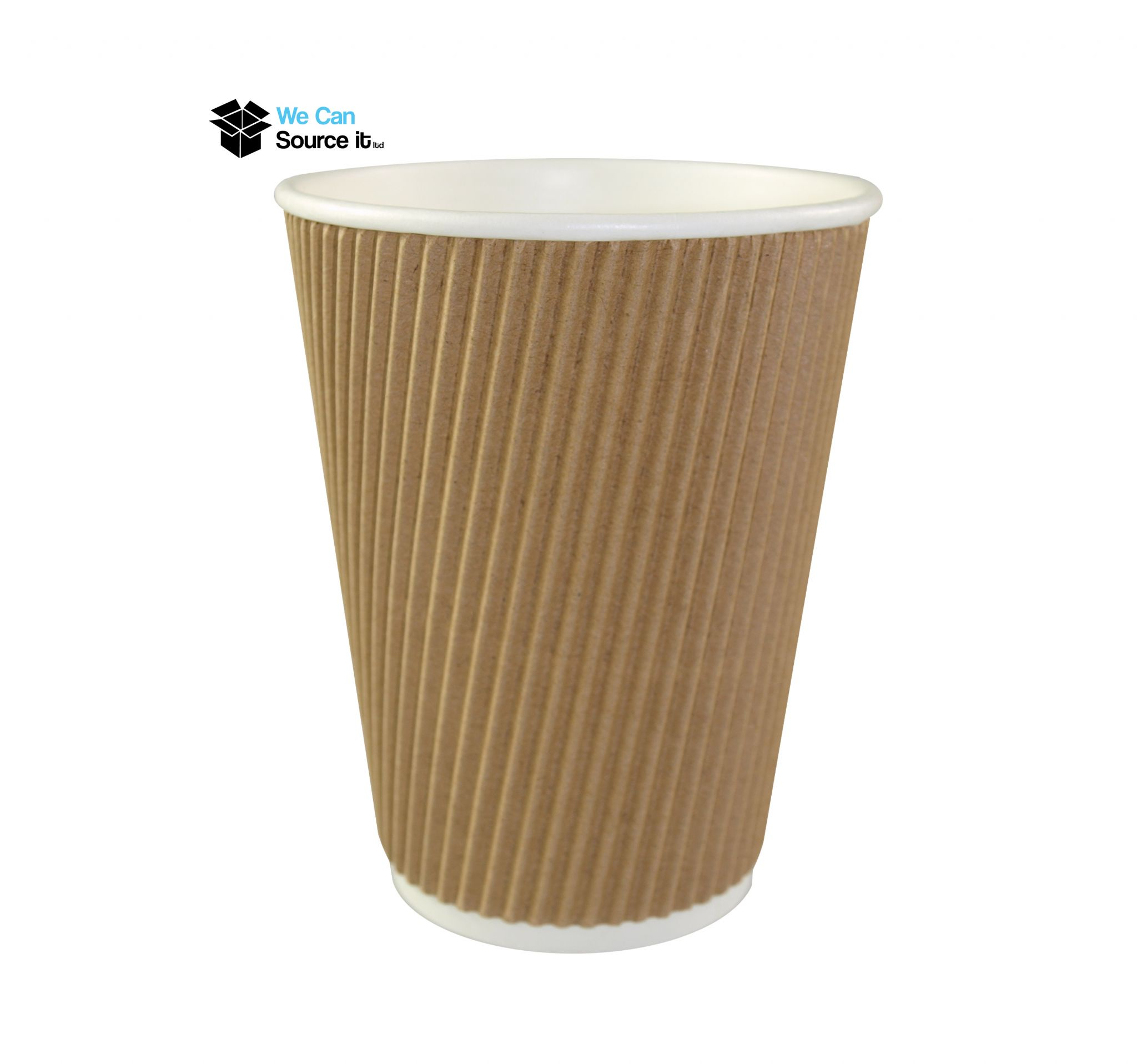 500ml Ripple Bulk Disposable Coffee Cups , Recyclable Paper