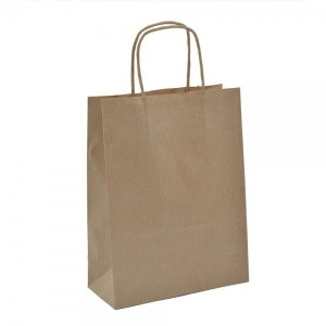 Kraft Brown Ribbed Paper Bags