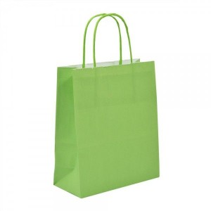 Lime Green Paper Bag