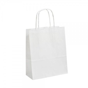 White Ribbed Paper Bags