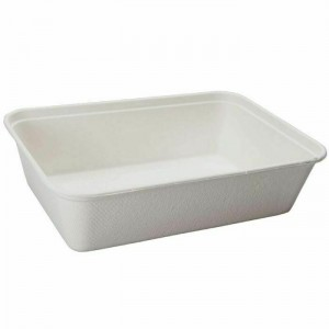 500ml Bagasse Rectangular Food Tray