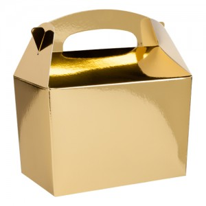 Metallic Gold Party Meal Box