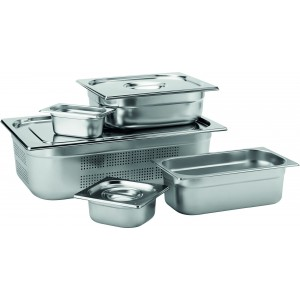 Stainless Steel GN 1/9 Handled Lid