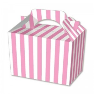 Pink Candy Stripe Party Meal Boxes